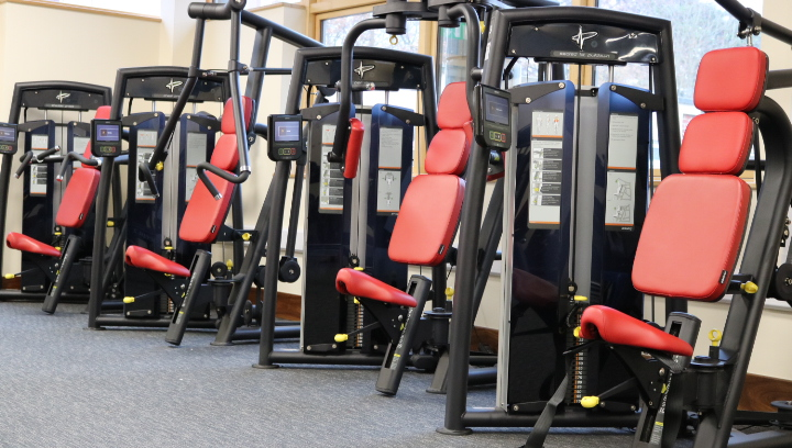 A photograph of the workstations within the Thinking-Fitness Gym