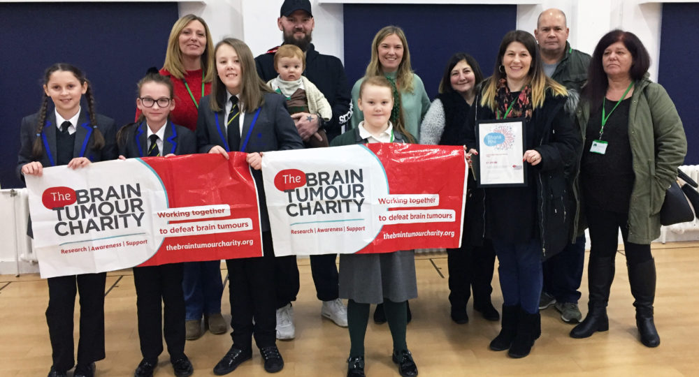 The Portsmouth Academy - Brain Tumour Charity - Cheque Presentation