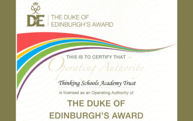 Thinking Schools Academy Trust Awarded Duke of Edinburgh Licence