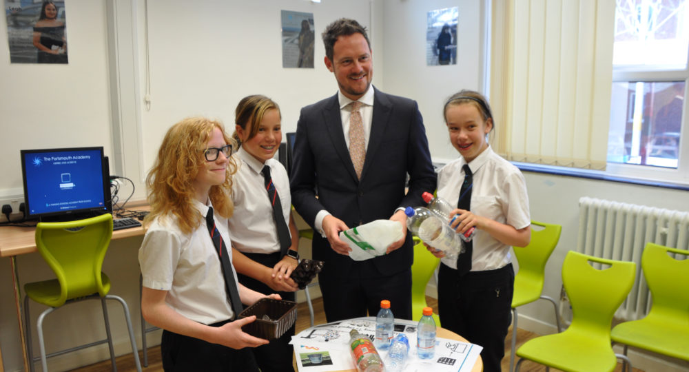 The Portsmouth Academy Students Enlist Local MP in Plastics Campaign