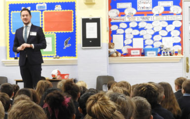 Former pupil, Stephen Morgan MP, visits Newbridge Junior School