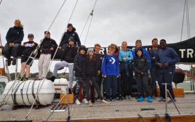 All Aboard – Portsmouth students set sail along the English Channel