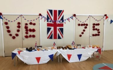 Front line and vulnerable children throughout The Thinking Schools Academy Trust find a way to celebrate this defining day that marks the end of World War II.