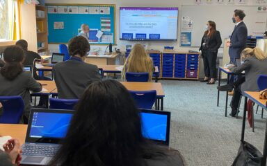 Stephen Morgan MP visits The Portsmouth Academy as schools return to face-to-face learning